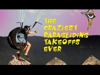 The Crasiest Paraglading Takeoffs